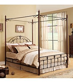 Home Interior Lucille Queen Metal Canopy Bed