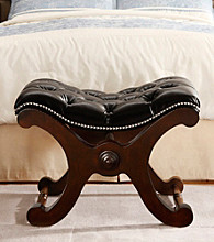 Home Interior Curved Nailhead Detail Bench