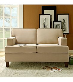 Home Interior Cream Microfiber Loveseat