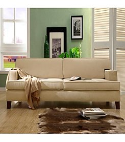 Home Interior Cream Microfiber Sofa