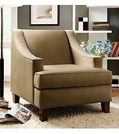 Home Interior Taupe Microfiber Armchair