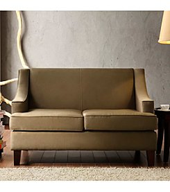 Home Interior Taupe Microfiber Loveseat