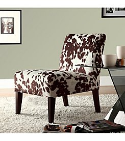 Home Interior Cowhide Print Accent Chair