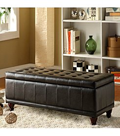 Home Interior Chocolate Tufted Storage Bench