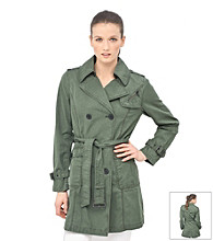 Marc New York Belted Button Front Trench Coat