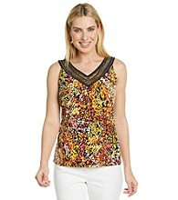 Laura Ashley® Navy Firework Print Tank