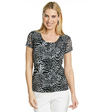Laura Ashley® Dot Animal Mesh Tee
