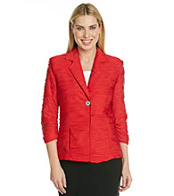 Laura Ashley® Red Textured Blazer