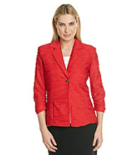 Laura Ashley® Petites' Red Textured Blazer