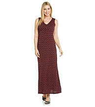 Laura Ashley® Zigzag Print Maxi Dress