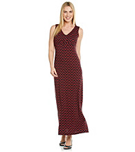 Laura Ashley® Petites' Zigzag Print Maxi Dress