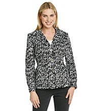 Laura Ashley® Scribble Print Blazer