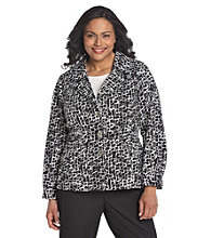 Laura Ashley® Plus Size Scribble Print Blazer