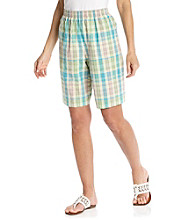 Alfred Dunner® Stretch Waistband All Over Plaid Short