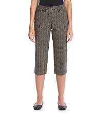 Briggs New York® Traditional Waistband All Over Print Crop Pant
