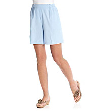 Cathy Daniels® Stretch Waistband Below The Knee Solid Short