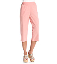 Cathy Daniels® Stretch Waistband Solid Capri