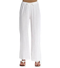 Cathy Daniels® Stretch Waistband with Drawstring Solid Pant