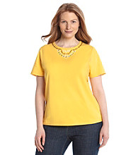 Breckenridge® Plus Size Ringer Knit Tee