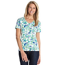 Studio Works® Floral Printed V-neck Tee