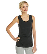 Gloria Vanderbilt Sport Solid Shirred Tank