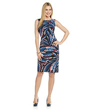 Evan-Picone® Printed Knit Dress