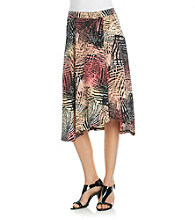 Evan-Picone® Leaf Printed Knit Skirt