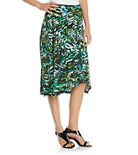 Evan-Picone® Brushstroke Printed Knit Skirt