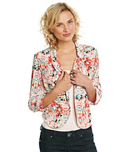 AGB® Cropped Printed Jacket