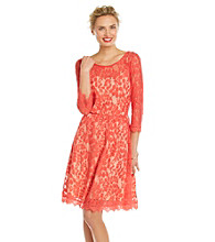 NY Collection Allover Lace Dress