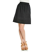 Relativity® Tiered Eyelet Career Skirt