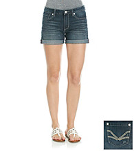 Nine West Vintage America Collection® Cuffed Embroidered Denim Shorts