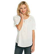 Nine West Vintage America Collection® Short Sleeve Mila Peasant Top