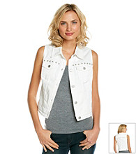 DKNY JEANS® Studded Denim Vest