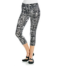 Calvin Klein Performance Printed Compression Cropped Pants