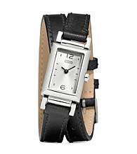 COACH BLACK MADISON DOUBLE WRAP WATCH