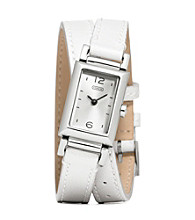 COACH WHITE MADISON DOUBLE WRAP WATCH