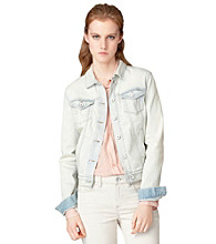 Calvin Klein Jeans Bleached Out Trucker Jacket