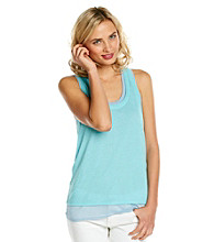 DKNY JEANS Sheet Double Layer Tank