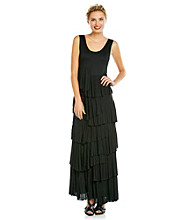 Chelsea & Theodore® Sleeveless Scoopneck Tiered Maxi Dress