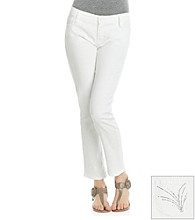 Jones New York Signature® White Soho Ankle Jeans with Firework Bling