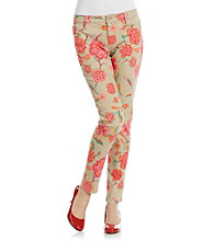 Jones New York Signature® Floral Print Soho Ankle Jeans