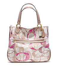 COACH POPPY STAMPED C HALLIE EW TOTE