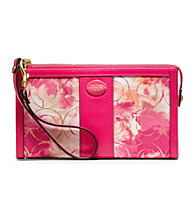 COACH FLORAL ZIPPY WALLET