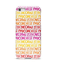 COACH DOUBLE STRIPE SCARF PRINT IPHONE 5 CASE