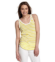 MICHAEL Michael Kors® Sleevless Scoopneck Stripe Tank