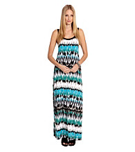 Karen Kane® Sleeveless Scoopneck Pacific Stripe Maxi Dress