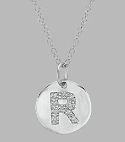 .05 ct. t.w. Diamond and Sterling Silver Initial