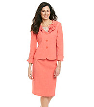 Le Suit® Tweed Jacket with Skirt Set