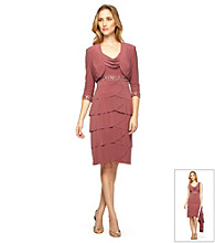 Alex Evenings® Drapeneck Dress with Jacket
